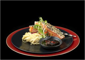 Focal Fusion Photography Salmon Dish Olives and Plates