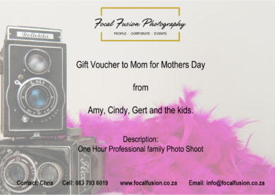 Focal Fusion Photography Mothers Day Gift Voucher