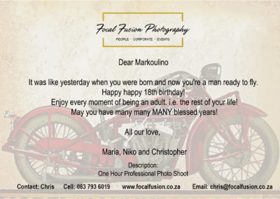 Focal Fusion Photography Birthday Gift Voucher