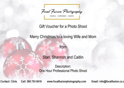 Focal Fusion Photography Christmas Photo Shoot Gift Voucher